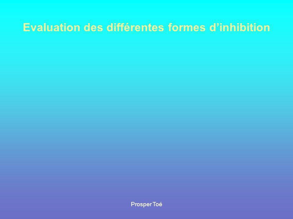 Prosper Toé Evaluation des différentes formes d'inhibition