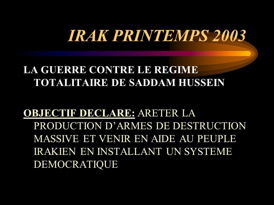 INTERVENTION AMERICAINE EN AFGHANISTAN ET EN IRAK POINTS COMMUNS 1.La guerre au terrorisme 2.L'installation d'un régime démocratique: sauver deux peuples opprimés