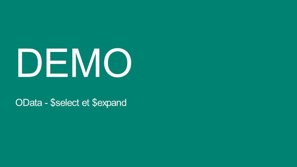 DEMO OData - $select et $expand