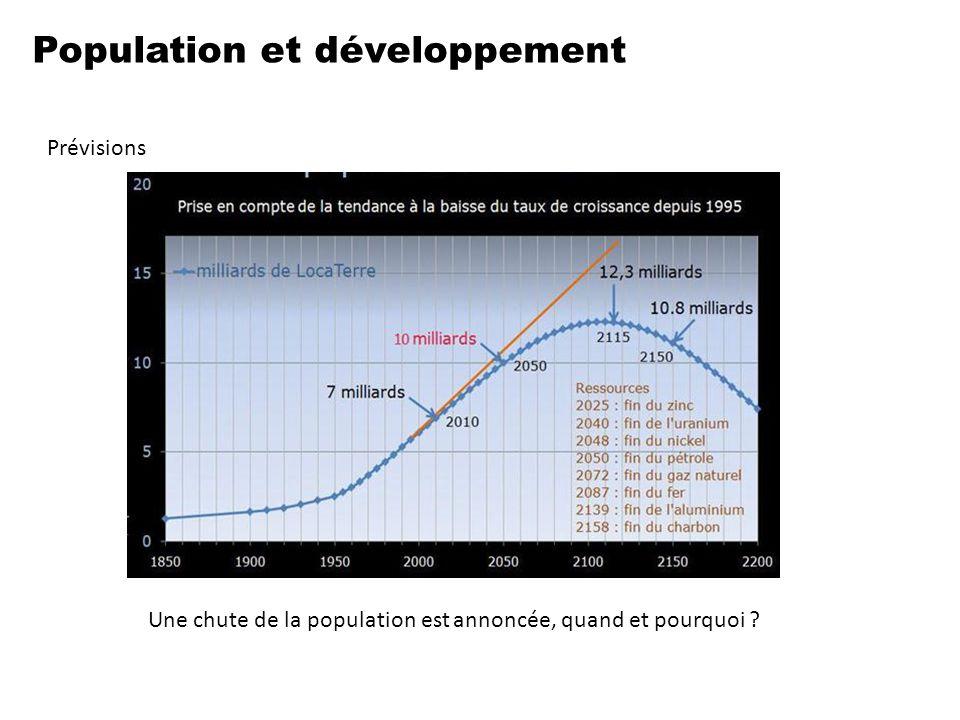 Population et développement Prévisions Une chute de la population est annoncée, quand et pourquoi ?