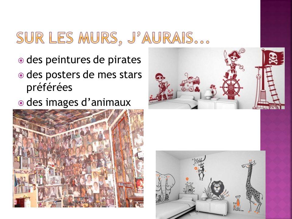  des peintures de pirates  des posters de mes stars préférées  des images d'animaux