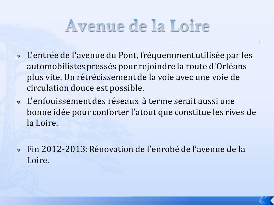  L'entrée de l'avenue du Pont, fréquemment utilisée par les automobilistes pressés pour rejoindre la route d'Orléans plus vite. Un rétrécissement de