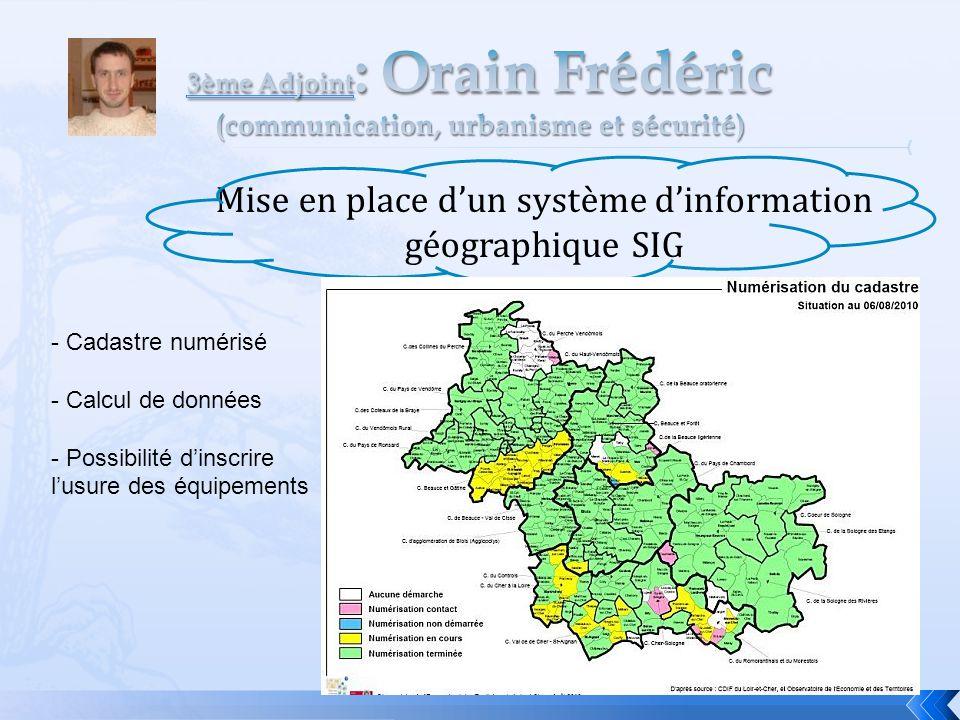 Mise en place d'un système d'information géographique SIG - Réaménagement -.-. - Cadastre numérisé - Calcul de données - Possibilité d'inscrire l'usur