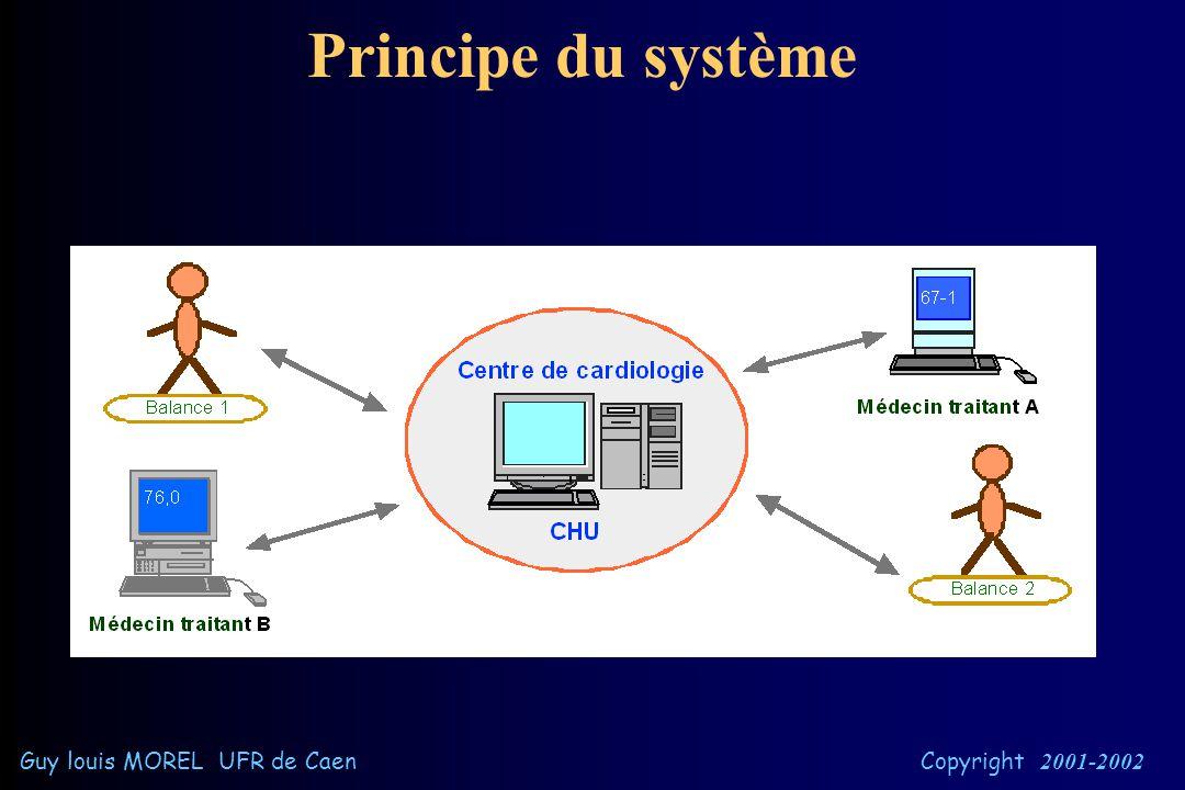 Objectifs   Automatisation des mesures à distance les mesures sont envoyées au serveur   Autonomie de la personne la pesée s'effectue depuis son d