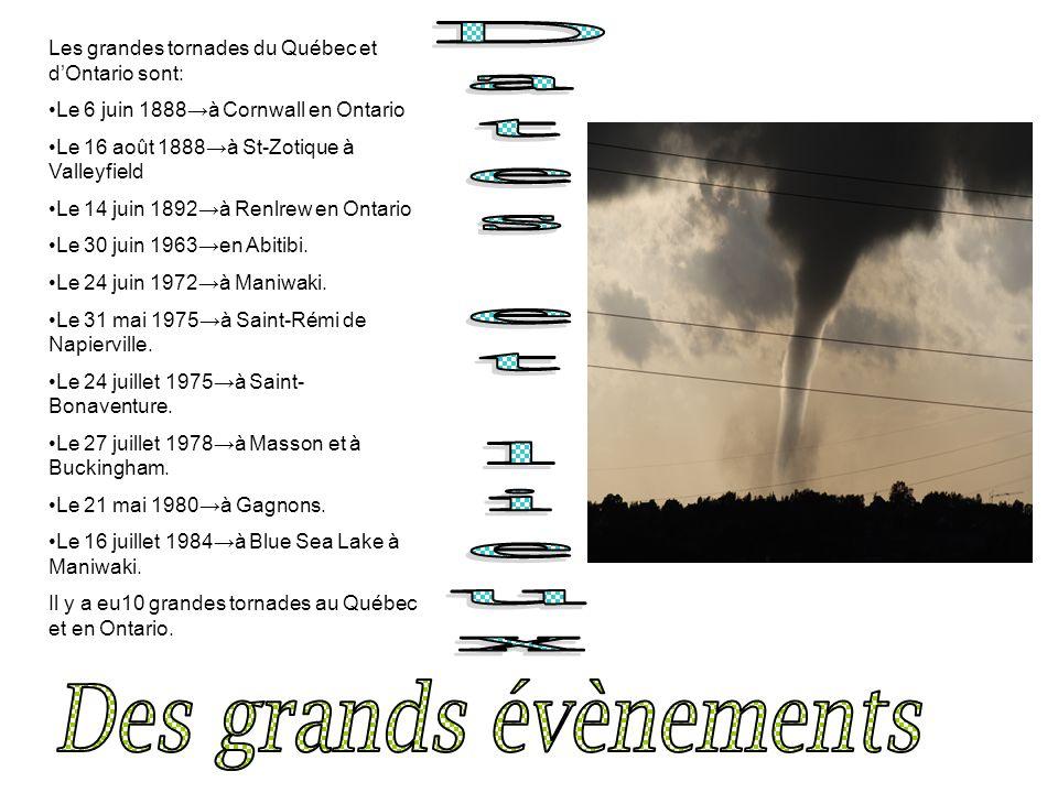 Nous ne pouvons pas prévenir les tornades.