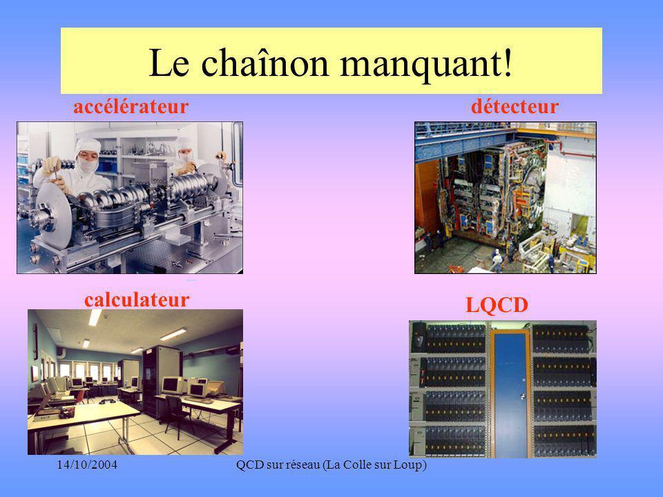 14/10/2004QCD sur réseau (La Colle sur Loup) Le chaînon manquant.