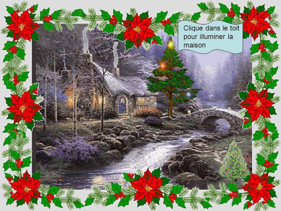 Clique dans l'arbre pour mettre des guirlandes de Noël