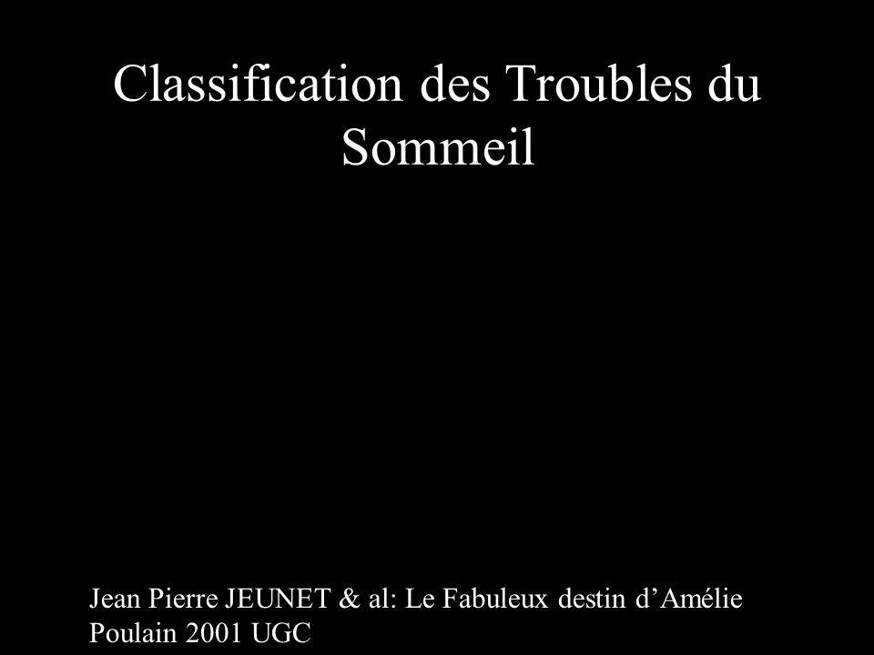 Classification des Troubles du Sommeil Jean Pierre JEUNET & al: Le Fabuleux destin d'Amélie Poulain 2001 UGC