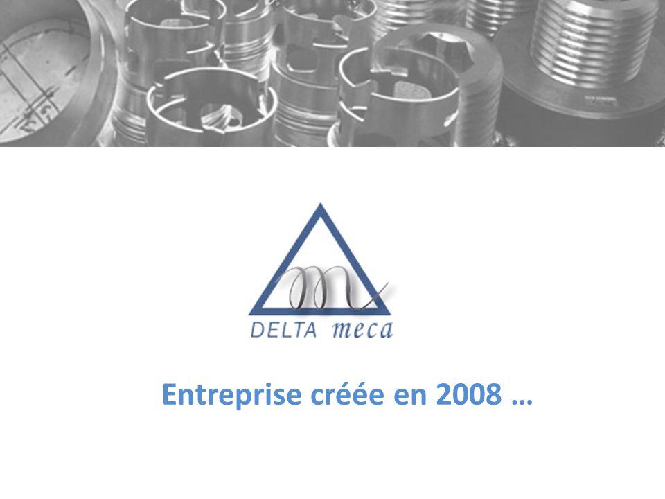Entreprise créée en 2008 …
