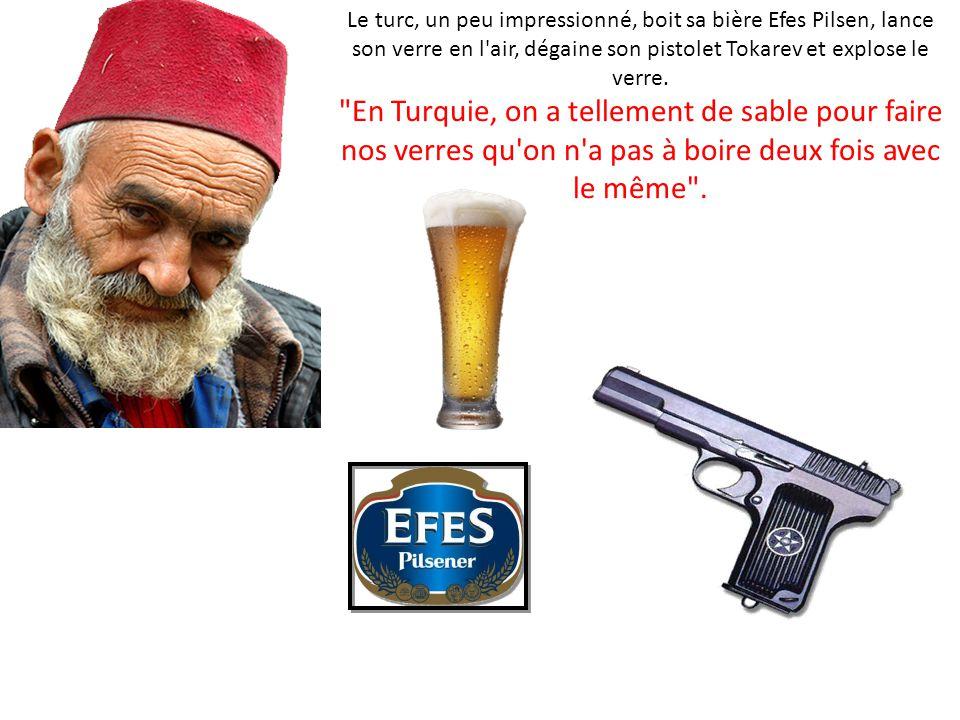 Le marocain boit sa bière