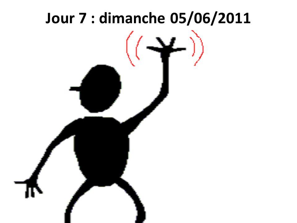 Jour 7 : dimanche 05/06/2011 Retour