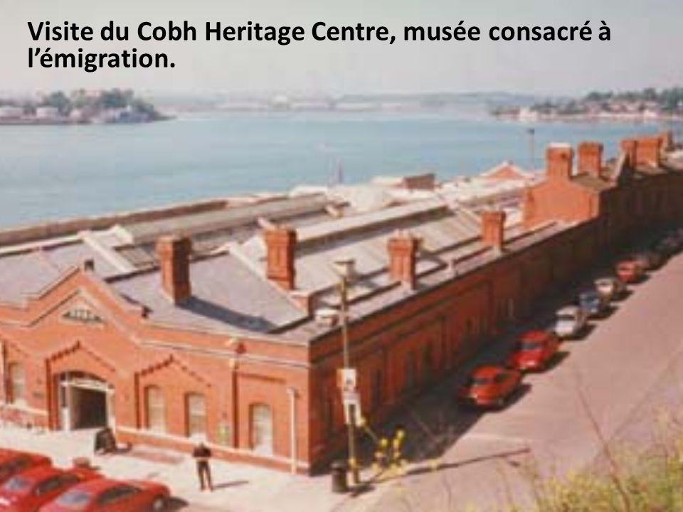 Visite du Cobh Heritage Centre, musée consacré à l'émigration.
