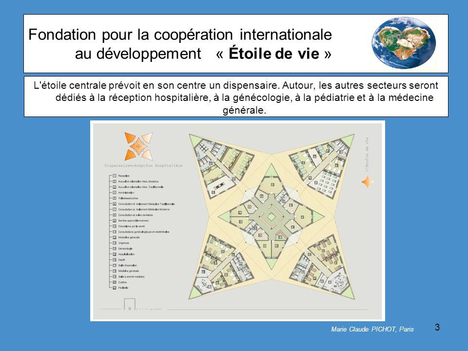 3 Fondation pour la coopération internationale au développement« Étoile de vie » L étoile centrale prévoit en son centre un dispensaire.