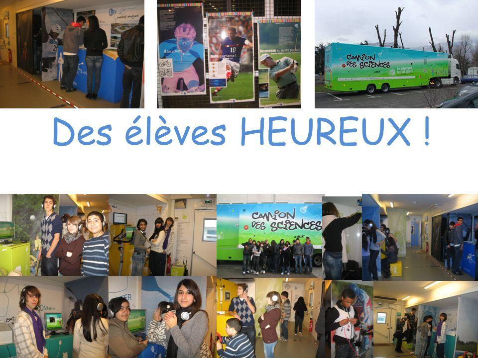 Des élèves HEUREUX !