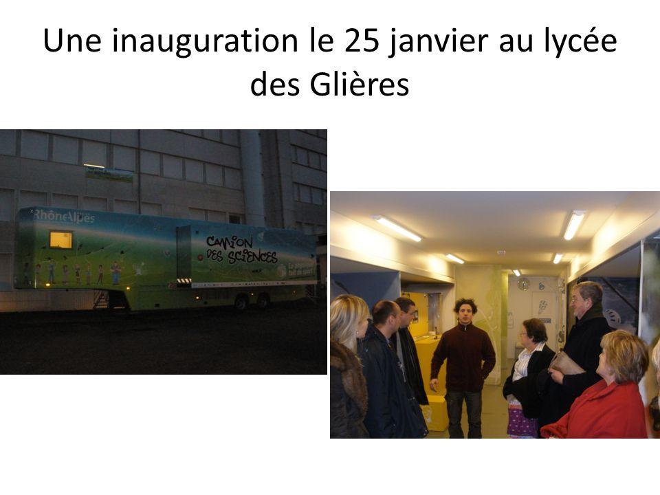 Une inauguration le 25 janvier au lycée des Glières
