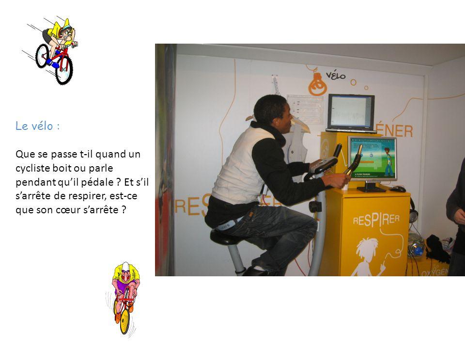 Le vélo : Que se passe t-il quand un cycliste boit ou parle pendant qu'il pédale .