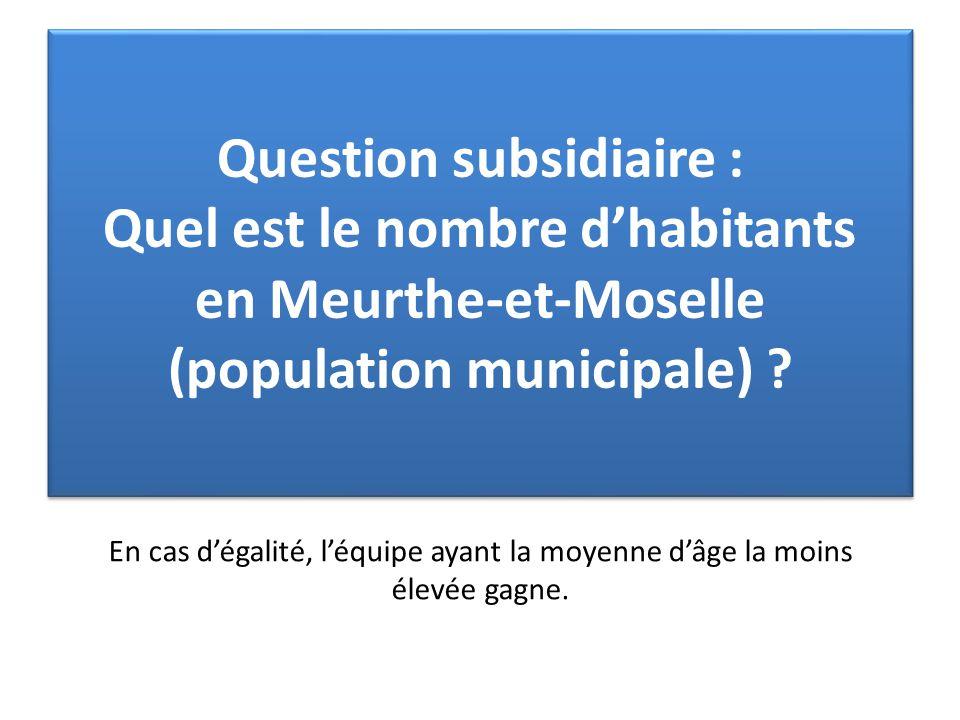 Question subsidiaire : Quel est le nombre d'habitants en Meurthe-et-Moselle (population municipale) ? Question subsidiaire : Quel est le nombre d'habi