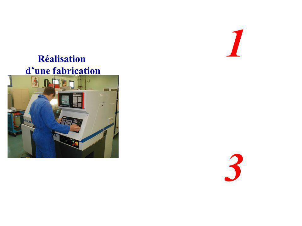 1 2 Réalisation d'une fabrication 3
