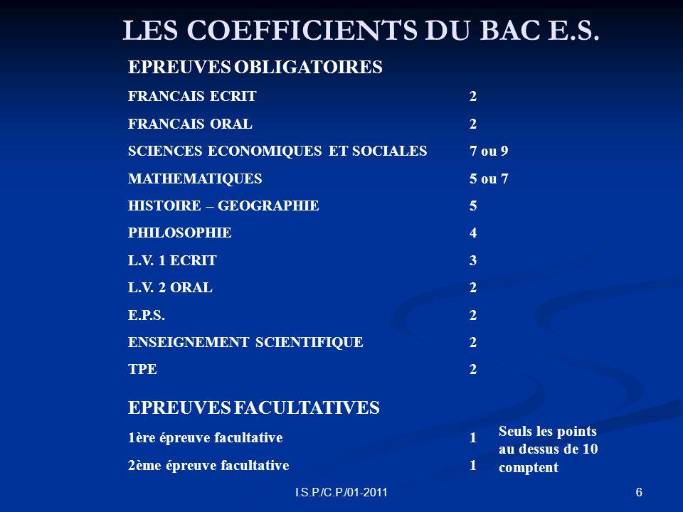 17I.S.P./C.P./01-2011 LES I.U.T.