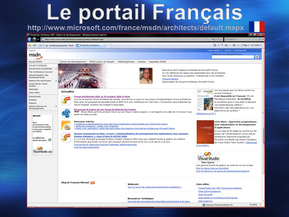 http://www.microsoft.com/france/msdn/architects/default.mspx