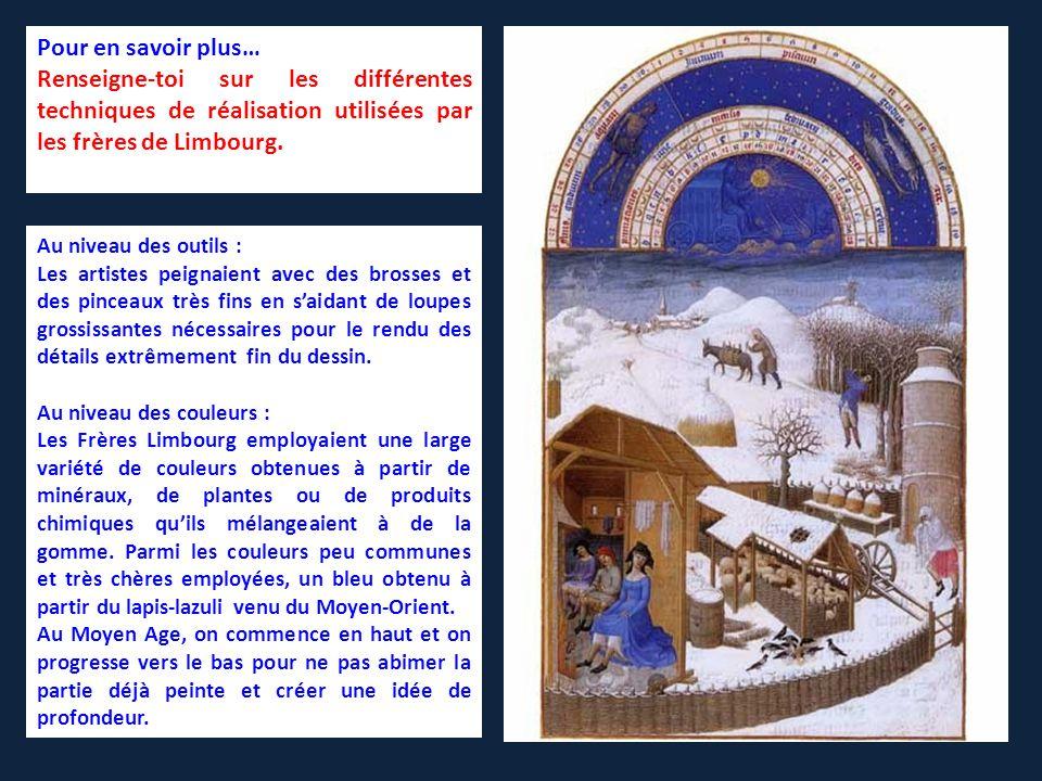 Renseigne-toi sur les différentes techniques de réalisation utilisées par les frères de Limbourg.