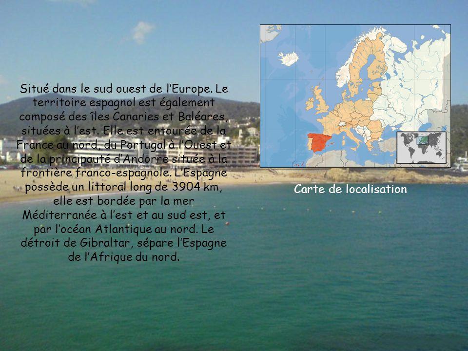 Situé dans le sud ouest de l'Europe.