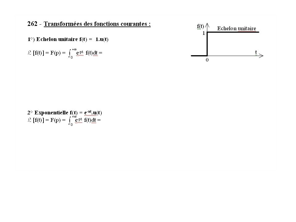 Exemple de résolution par le calcul symbolique et par les schémas blocs Application à un 1 er ordre Cours S.L.C.I.