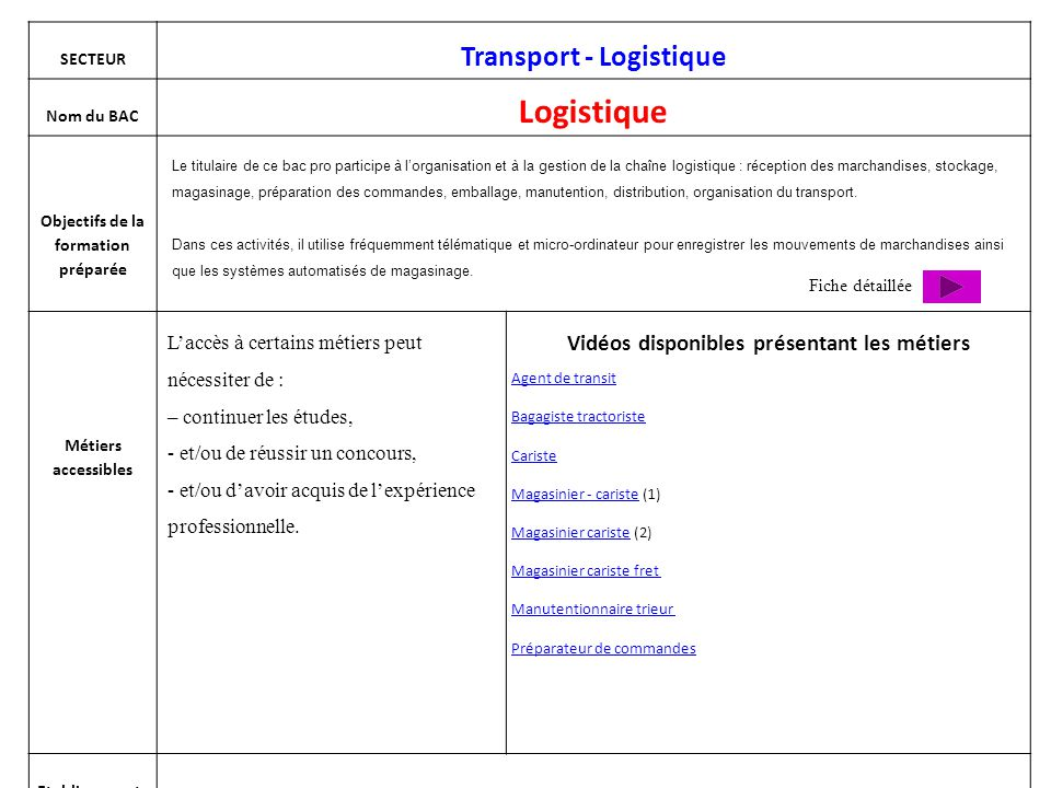 BAC professionnel Conducteur transports routiers marchandises