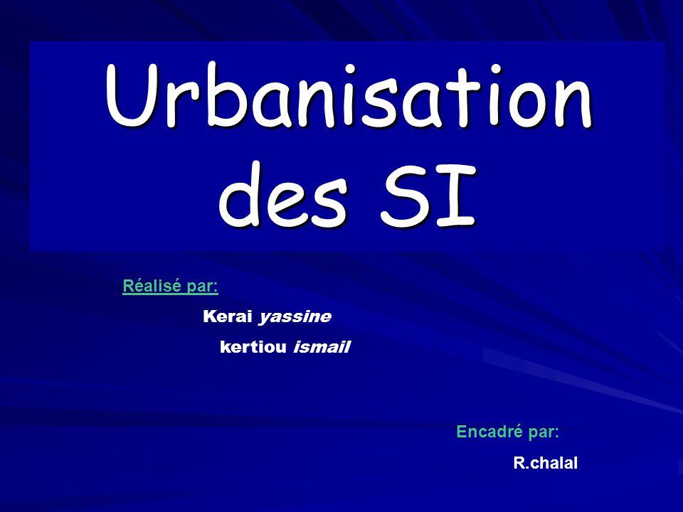 Urbanisation des SI Réalisé par: Kerai yassine kertiou ismail Encadré par: R.chalal