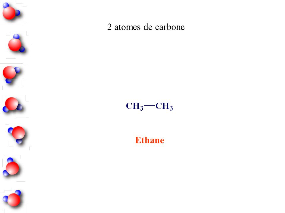 Ethane 2 atomes de carbone