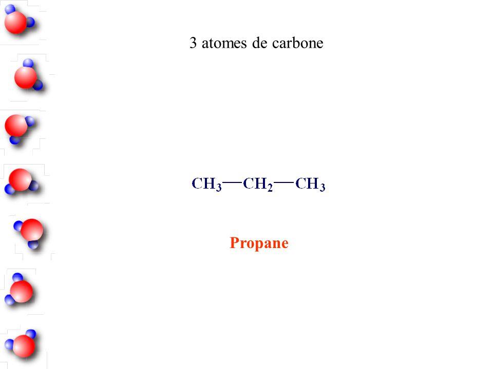 Propane 3 atomes de carbone
