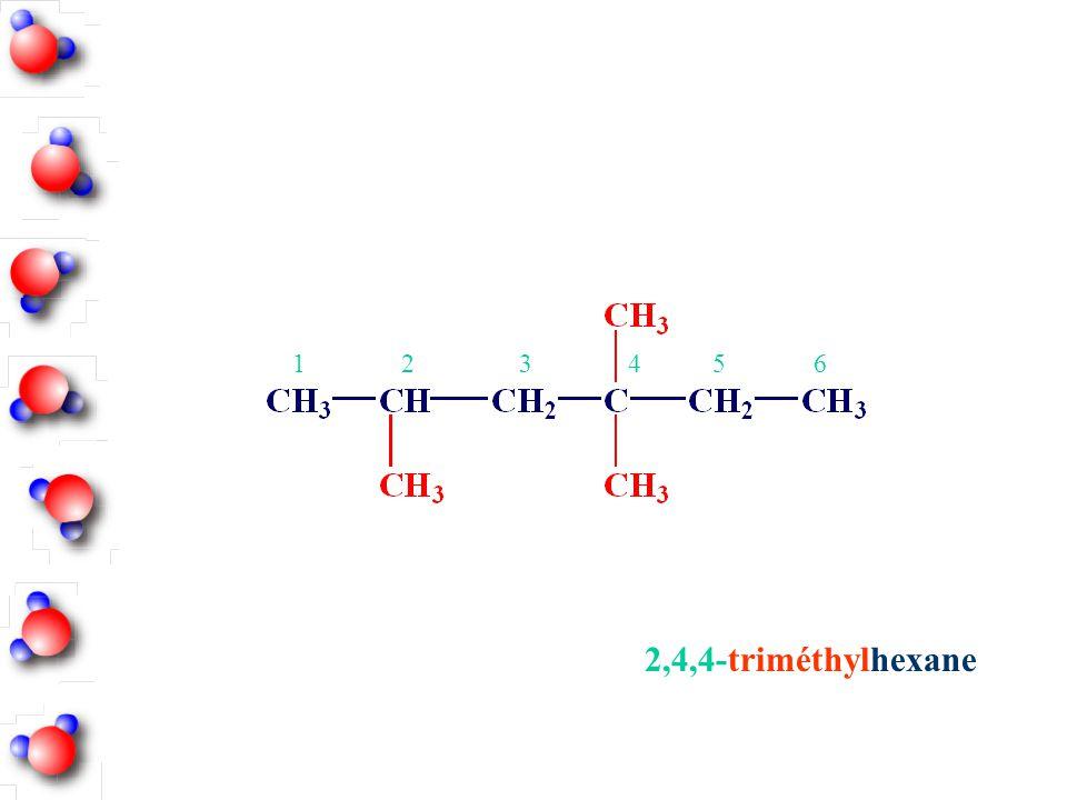2,4,4-triméthylhexane 123456