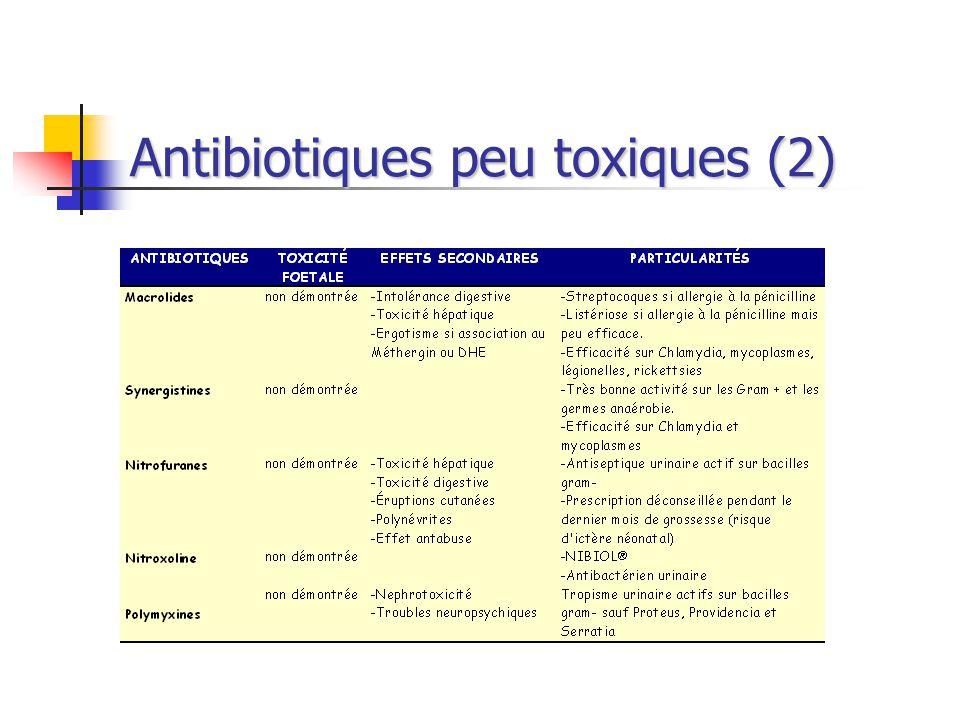 Antibiotiques peu toxiques (2)