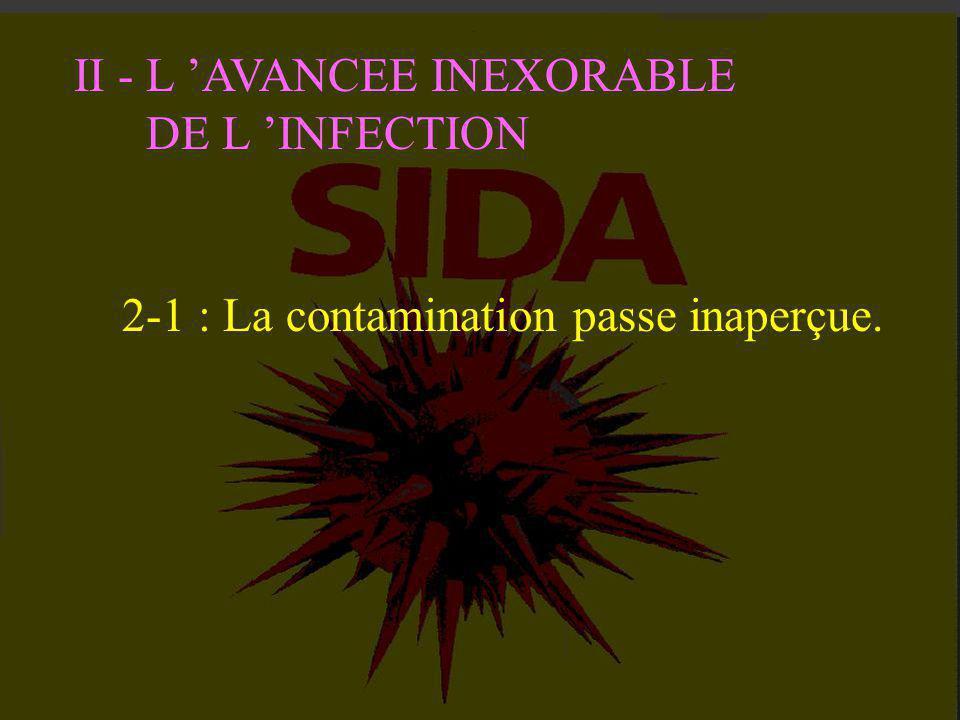I - UN MAL QUI REPAND LA TERREUR Dans la phase, de deux à quinze ans, qui suit la contamination, le virus détruit en silence les défenses immunitaires
