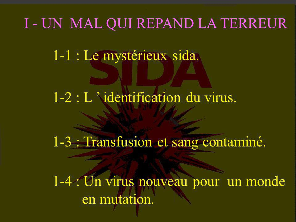 3-1 : Le verdict du sérodiagnostic..3-2 : La quantification du virus.