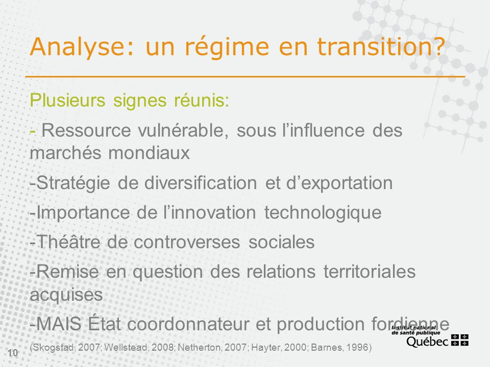 Analyse: un régime en transition.