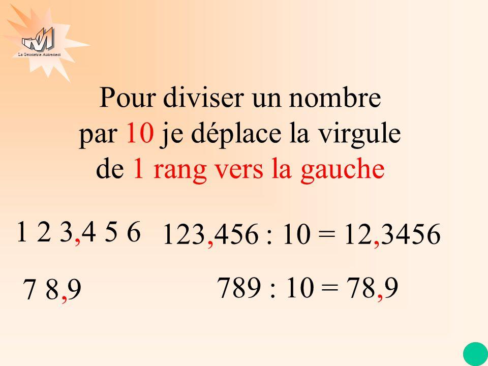 La Géométrie Autrement Divisons 123 par 10 puis par 100 1 2 3 1 0 1 1 2 1 0 2 3 2 3 1 0 2 30, 30 1 0 3 0 1 2 31 0 0 1 2 3 2 3 0 0 0 3 0, Oh non ! plus