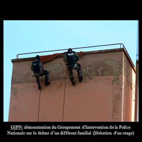 GIPN: démonstration du Groupement d Intervention de la Police Nationale sur le thème d'un différent familial (libération d un otage)