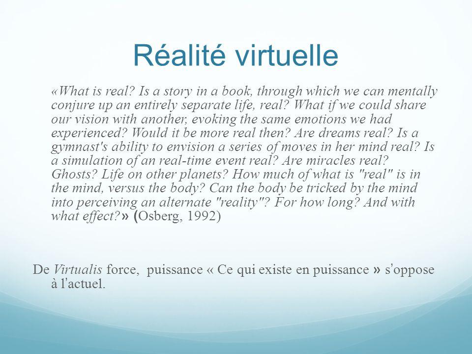 Éten dre et donner sens au réel  Au delà des différents univers de virtualité.