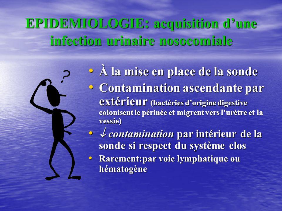 EPIDEMIOLOGIE CHUG Micro organismes concernés : • Entérobactéries:80% – E.Coli : 75 % – Protéus – Klebsiella • Streptocoques – Entérocoques