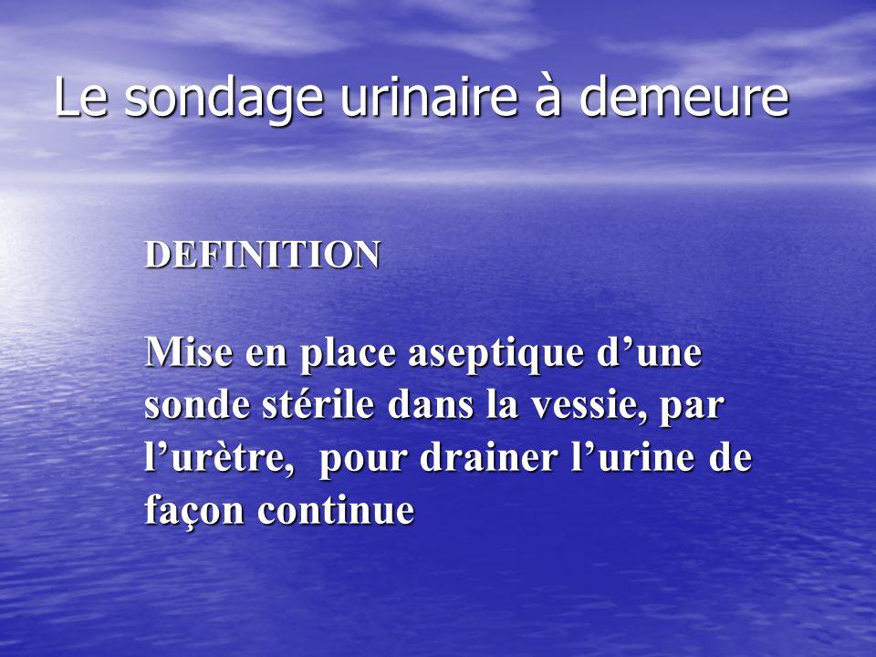 DRAINAGE URINAIRE CLOS  Créé par S. Martin  Modifié par A. Mathonnet  (Sept 2008)