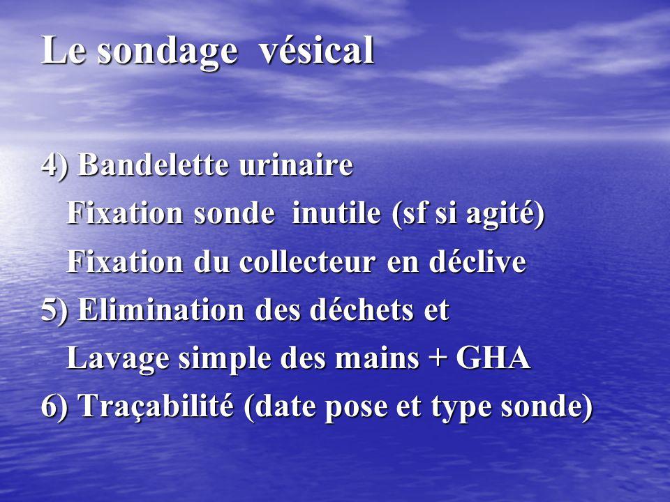 Le sondage vésical 3)Pose de la sonde chez l'homme • Introduction de la sonde, lubrifiée, verge verticale • Si sonde butte (vers 15 cms), abaisser la