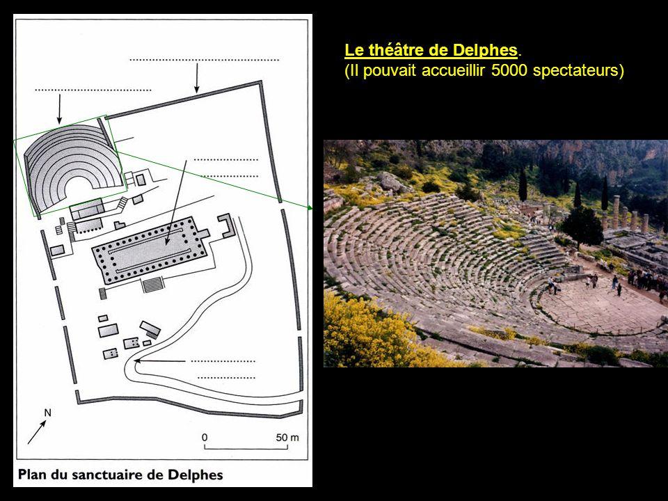Le temple d'Apollon C'est le bâtiment principal du sanctuaire*, c'est là que la Pythie rendait ses oracles* au nom d'Apollon.