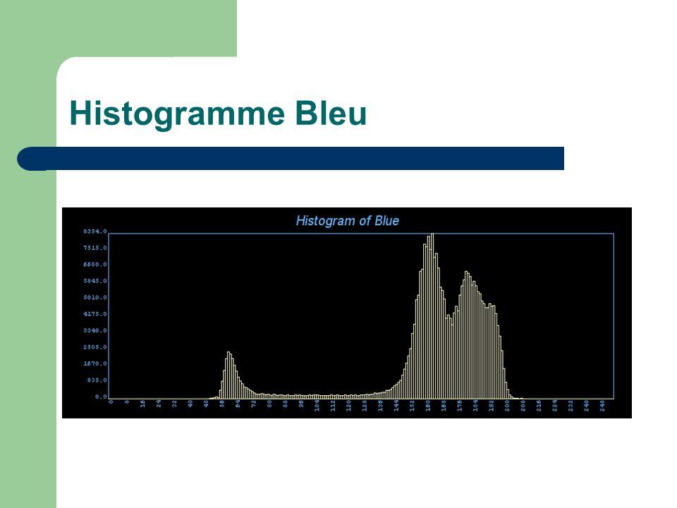 Histogramme Bleu