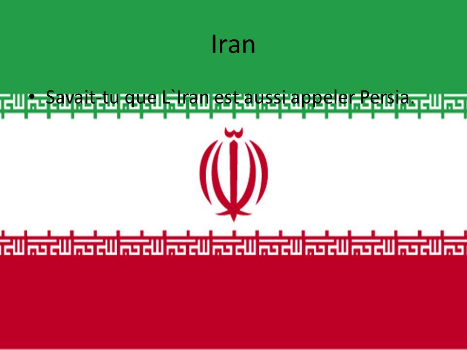 Iran • Savait-tu que L`Iran est aussi appeler Persia.
