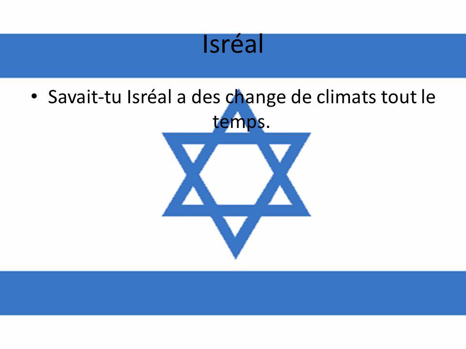 Isréal • Savait-tu Isréal a des change de climats tout le temps.