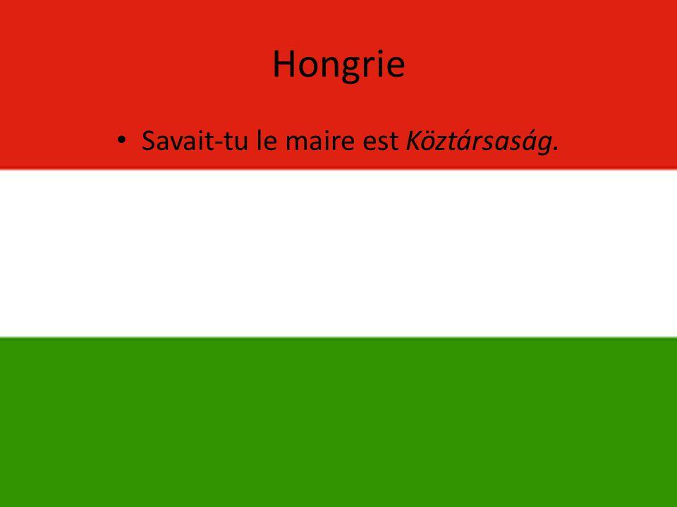 Hongrie • Savait-tu le maire est Köztársaság.