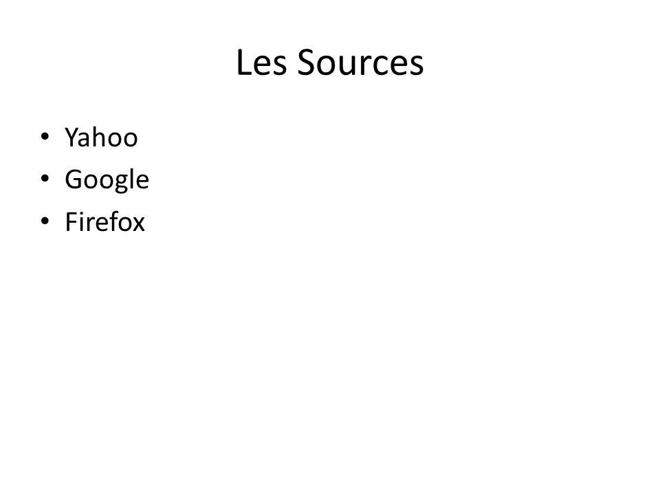 Les Sources • Yahoo • Google • Firefox