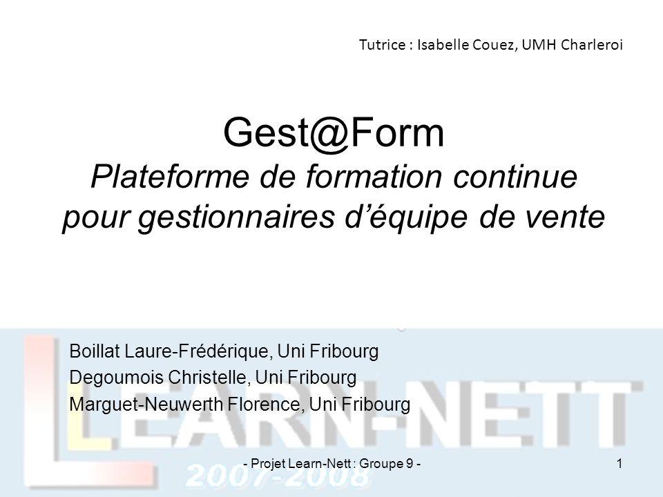 Gest@Form Plateforme de formation continue pour gestionnaires d'équipe de vente Boillat Laure-Frédérique, Uni Fribourg Degoumois Christelle, Uni Fribo