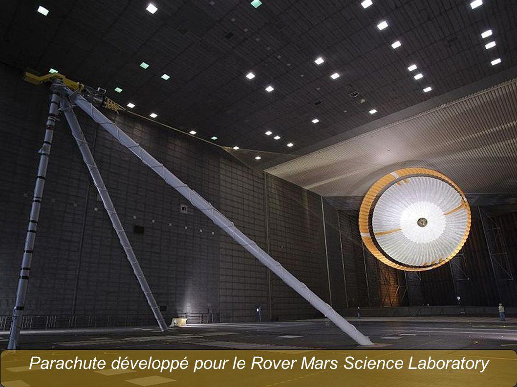 Parachute développé pour le Rover Mars Science Laboratory